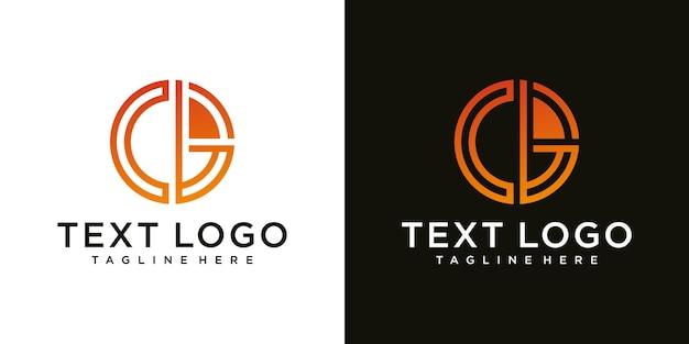 Początkowe logo małej litery cb bc b wewnątrz c monogram zaokrąglony kształt luksusowy