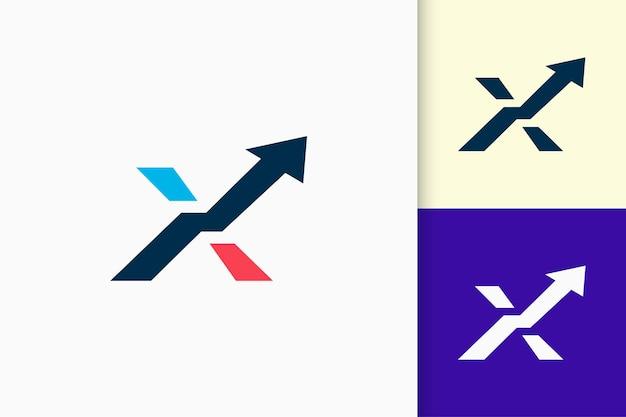 Początkowe nowoczesne logo reprezentuje technologię lub oprogramowanie w kształcie litery x
