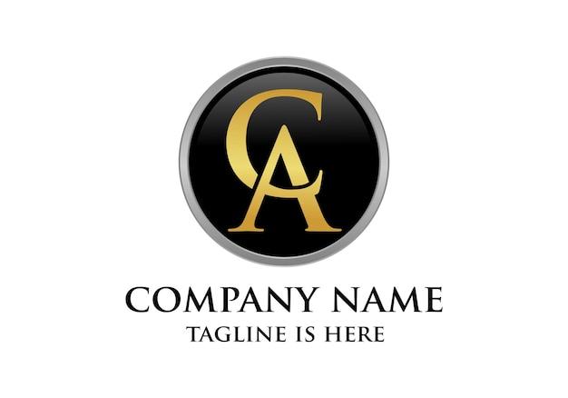 Początkowy luksusowy projekt logo ca lub ac