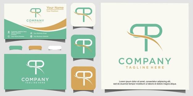 Początkowy pp lub logo dla zdrowej inspiracji projektowej