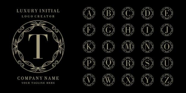 Początkowy projekt logo kwiatowy rama łóżka