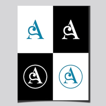 Początkowy projekt logo litery ab szablon wektorowy