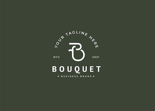 Początkowy projekt logo minimalistycznego rocznika b