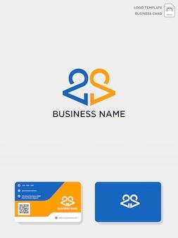 Początkowy szablon kreatywny logo ca lub ac i szablon wizytówki