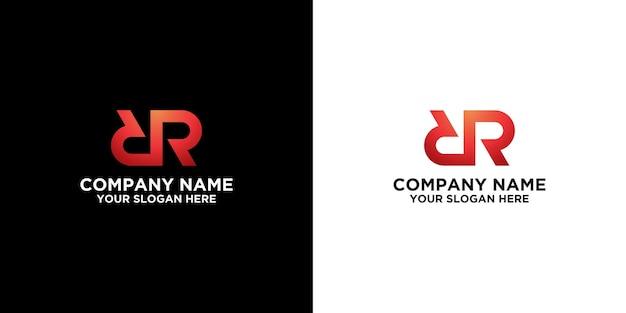Początkowy szablon projektów logo r premium wektor