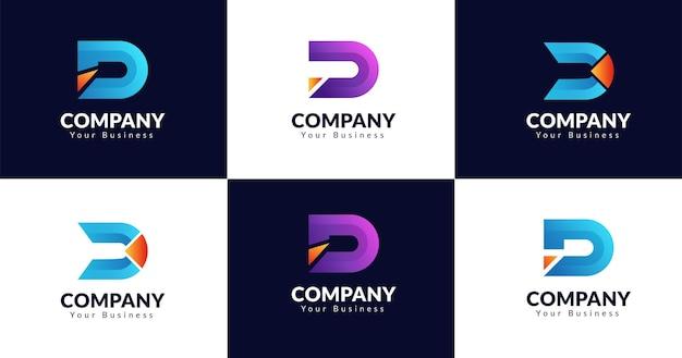 Początkowy Szablon Projektu Logo Litera D. Premium Wektorów