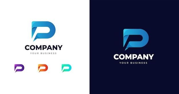 Początkowy szablon projektu logo litera d.