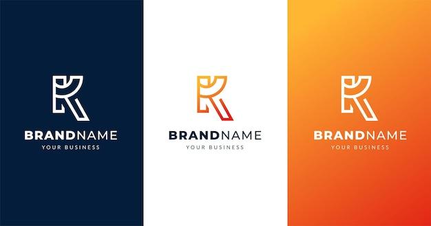 Początkowy Szablon Projektu Logo Litera K, Koncepcja Linii Premium Wektorów