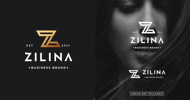 Początkowy szablon projektu logo z dla marki modowej lub osobistej
