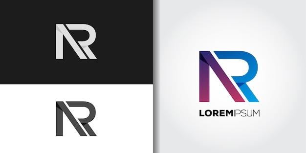 Początkowy Zestaw Logo Ar Premium Wektorów