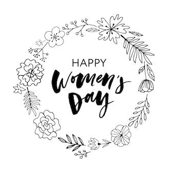 Pocztówka dzień kobiet szczęśliwy.