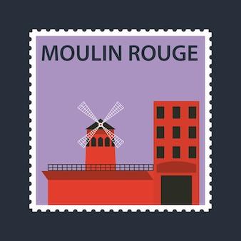 Pocztówka kabaretowej moulin rouge