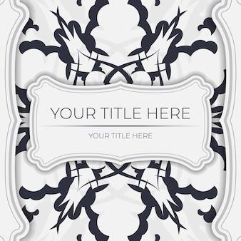 Pocztówka vintage wektor w jasnym kolorze z abstrakcyjnym ornamentem. projekt karty zaproszenie z wzorami mandali.