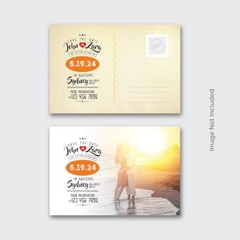 Pocztówka z zaproszeniem na ślub
