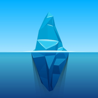 Pod wodą lodowa oceanu antarktycznego.