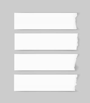 Podarte krawędzie papieru. rozdzierający papierowy tekstury tło.