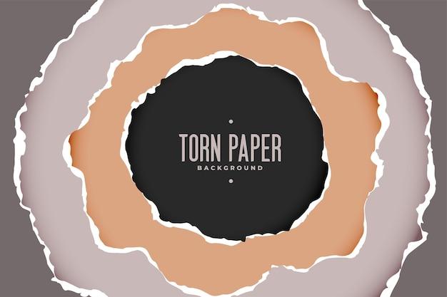 Podarte tło papieru w okrągłym stylu