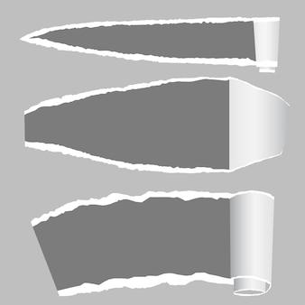 Podarty papier z poszarpanymi krawędziami i miejscem na tekst.