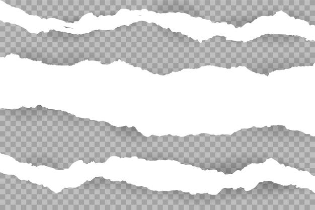 Podarty z białych pasków papieru