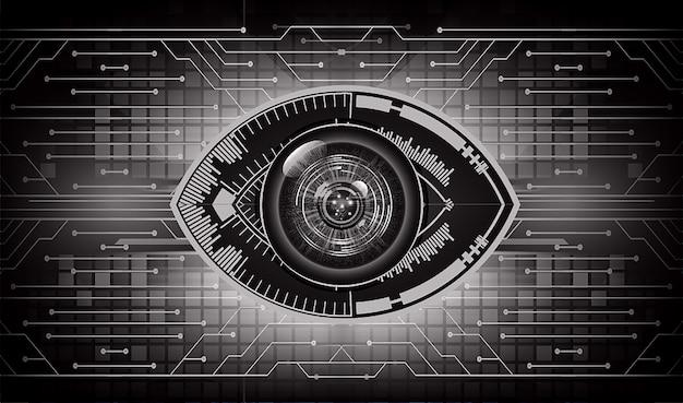 Podbite oko cyber obwodu przyszłościowy technologii pojęcia tło
