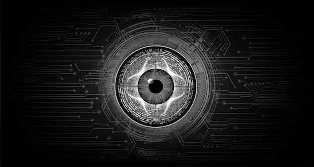 Podbite oko obwód cyber przyszłości koncepcja technologii
