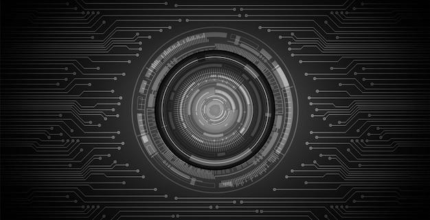Podbitego oka cyber obwodu obwodu technologii pojęcia przyszłościowy tło