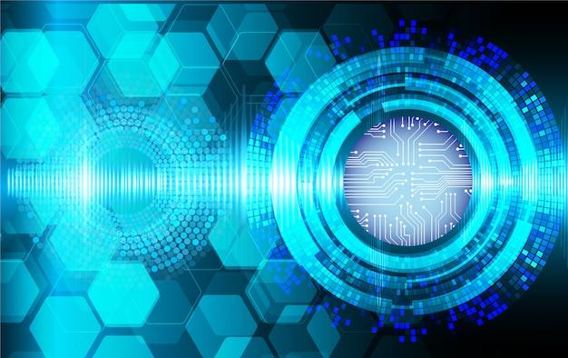 Podbitego oka cyber obwodu technologii przyszłościowy tło