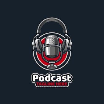 Podcast broadcast mic studyjny dźwięk pokaż podcast muzyczny zapis głosowy pod
