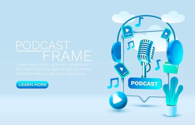 Podcast inteligentny czat do odtwarzania dla ludzi do komunikowania się wektorem