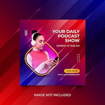 Podcast kolorowy szablon mediów społecznościowych