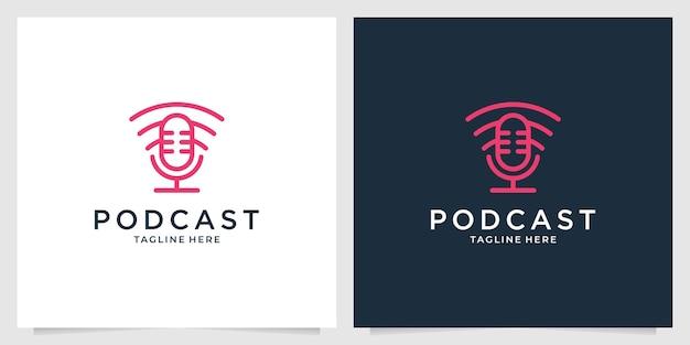 Podcast z projektem logo sieci