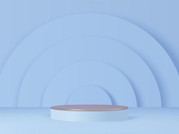 Podium renderowane 3d do prezentacji produktów show