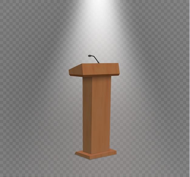 Podium tribune rostrum stand with microphones