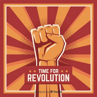 Podniesiona pięść do rewolucji