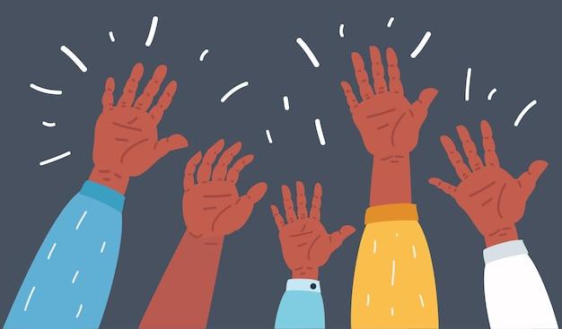 Podniosłem ręce w ciemności
