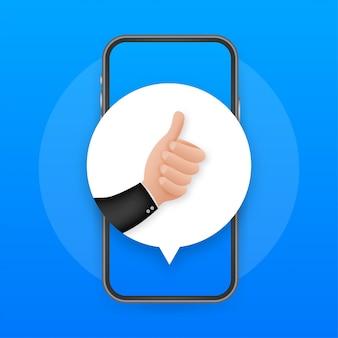 Podobnie jak w przypadku opinii mobilnych. ekran smartfona. ikona sieci. post w sieci społecznościowej. media społecznościowe takie jak ikona.