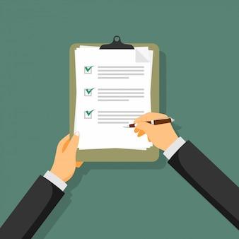 Podpisana umowa ikona umowy papierowej.
