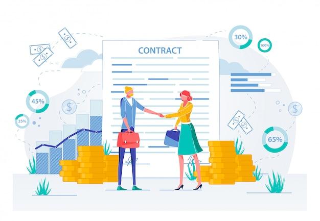 Podpisanie umowy o spotkanie biznesowe, ubieganie się o pracę.