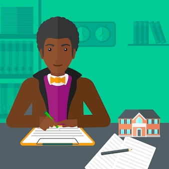 Podpisanie umowy z agentem nieruchomości.