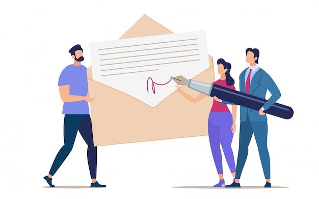 Podpisywanie i wysyłanie ulotek reklamowych