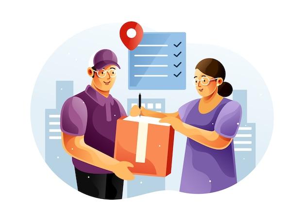 Podpisz dokumenty potwierdzające otrzymanie zamówienia