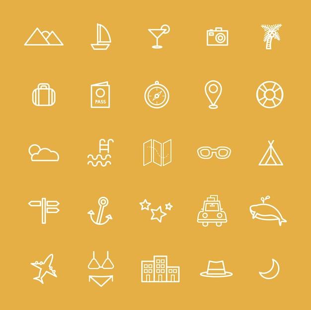 Podróż miejsce docelowe ikona wektory ilustracja koncepcja