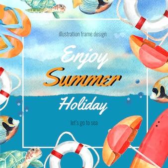 Podróż na wakacje latem na plaży palma drzewa wakacje, morze i niebo światło słoneczne
