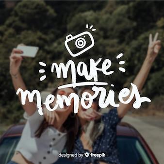 Podróż napis z tłem zdjęcie