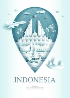 Podróż pomnik architektury indonezji