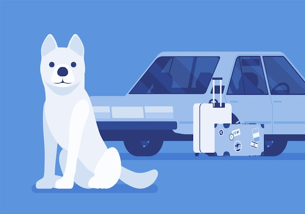 Podróż samochodem i wycieczka samochodowa z psem