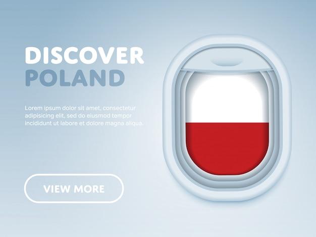 Podróż samolotem. szablon transparent wektor płaski