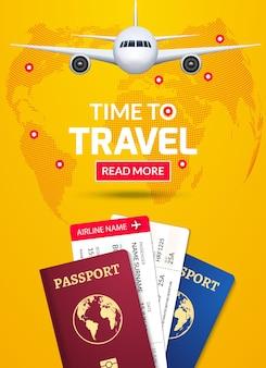 Podróż służbowa projekt podróży oferuje ilustracja koncepcja
