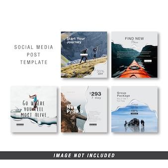 Podróż szablon mediów społecznościowych