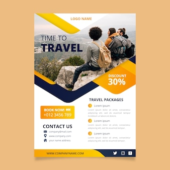 Podróż szablon projektu plakatu